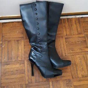 Shoes - Women's Knee High Black Dress Boots